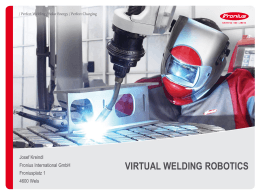 Robot programing training VIRTUAL WELDING