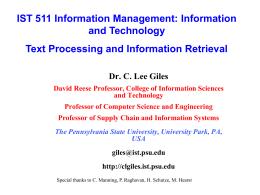 ir - Dr. C. Lee Giles