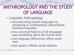 LANGUAGE IN CULTURE - University of Lethbridge