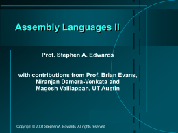 Assembly Languages II
