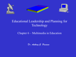 Multimedia for Teaching & Learning