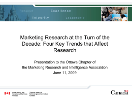 Marketing Research at the Turn of the Decade