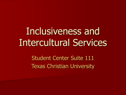 Inclusiveness and Intercultural Services