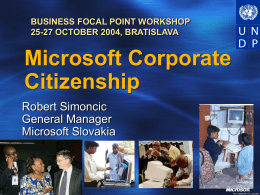 MICROSOFT CORPORATE CITIZENSHIP