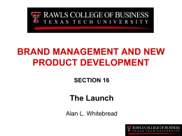 BRAND MANAGEMENT AND NEW PRODUCT …