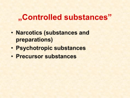 Narcotic issues - u