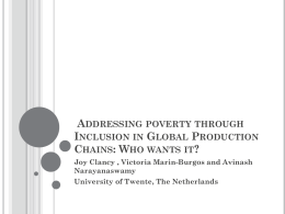 Addressing poverty through Inclusion in Global …