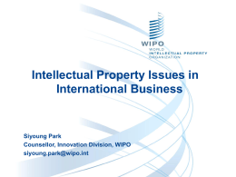 Intellectual Property issues in International Business_Park
