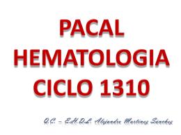PACAL HEMATOLOGIA CICLO 1309