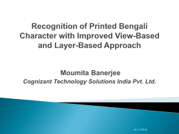 Recognition of Printed Bengali Character with Improved