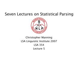 Natural Language Processing CS224N/Ling237