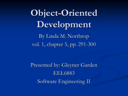 Object-Oriented Development