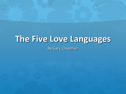 The Five Love Languages - Punxsutawney High School