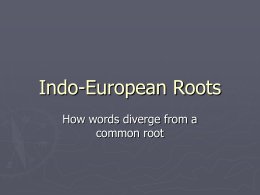 Indo-European Roots