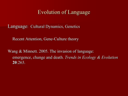 Evolution of Language - University at Albany