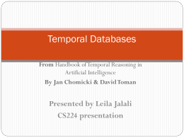 Temporal Databases - Donald Bren School of Information …
