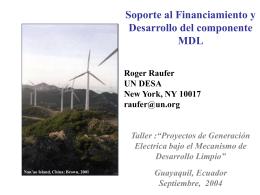 Soporte al Financiamiento y Desarrollo del MDL