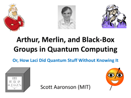 Arthur-Merlin and Black-Box Groups in Quantum …