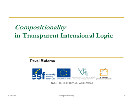 Compositionality in Transparent Intensional Logic