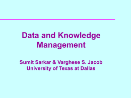 Databases - University of Texas at Dallas