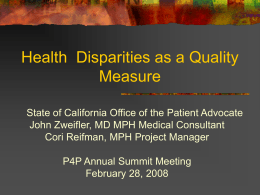 Equity and Access: Defining Quality Healthcare