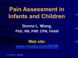 Pain Assessment in Infants and Children