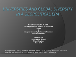 Origins, Development and Research for Universities and
