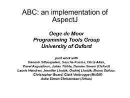 ABC: an implementation of AspectJ