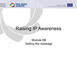 Raising IP Awareness