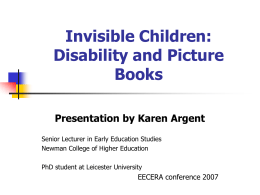 2. Invisible Children: Picture Books and Disability, Karen
