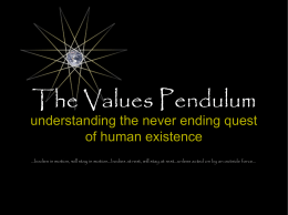 The Values Pendulum