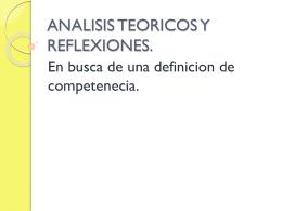 ANALISIS TEORICOS Y REFLEXIONES.