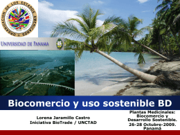 Diapositiva 1 - BioTrade Initiative, UNCTAD