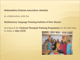 Presentation - Maharashtra Dyslexia Association