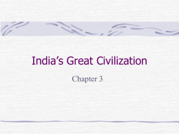 India's Great Civilization