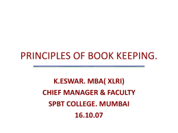 PRINCIPALS OF BOOK KEEPING.