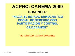 ACPRC: CAREMA 2009