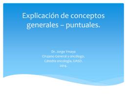 Conceptos generales: Glosario.