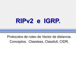 RIPv2 e IGRP