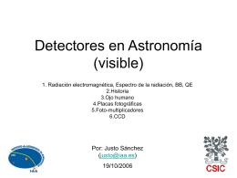 Detectores en astronomia (visible e infrarojo)