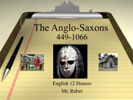 The Anglo-Saxons - Marlington Local