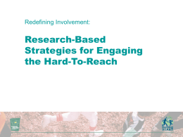 Redefining Involvement: Research