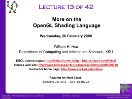 CIS736-Lecture-13-20080220 - Kansas State University