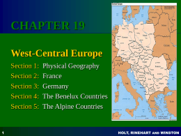 Chapter 14 West-Central Europe