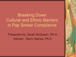 Breaking Down Cultural and Ethnic Barriers in Pap Smear