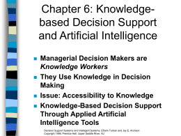Chapter 7 User Interface and Decision Visualization