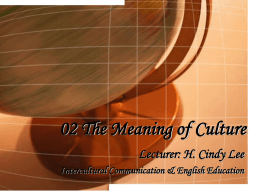 02 The Meaning of Culture