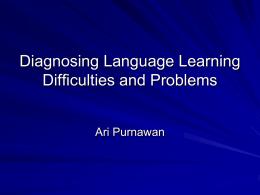 Diagnosis Kesulitan Belajar dan Identifikasi Masalah yang