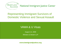 Representing Immigrant Survivors of Domestic …