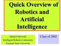 Introduction to Robotics Class